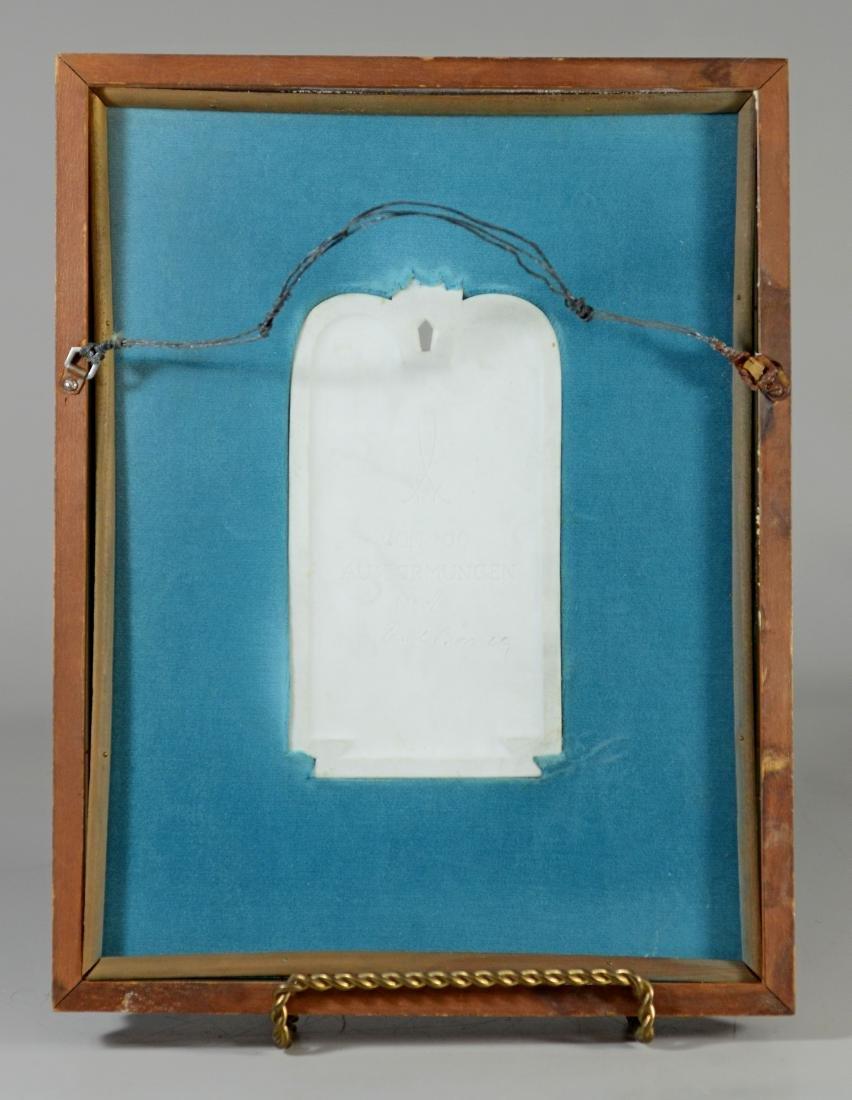 Meissen white bisque commemorative plaque - 3
