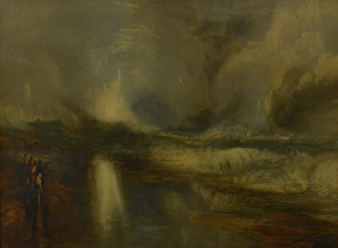 """Robert Carrickr, lithograph """"The Blue Lights"""""""