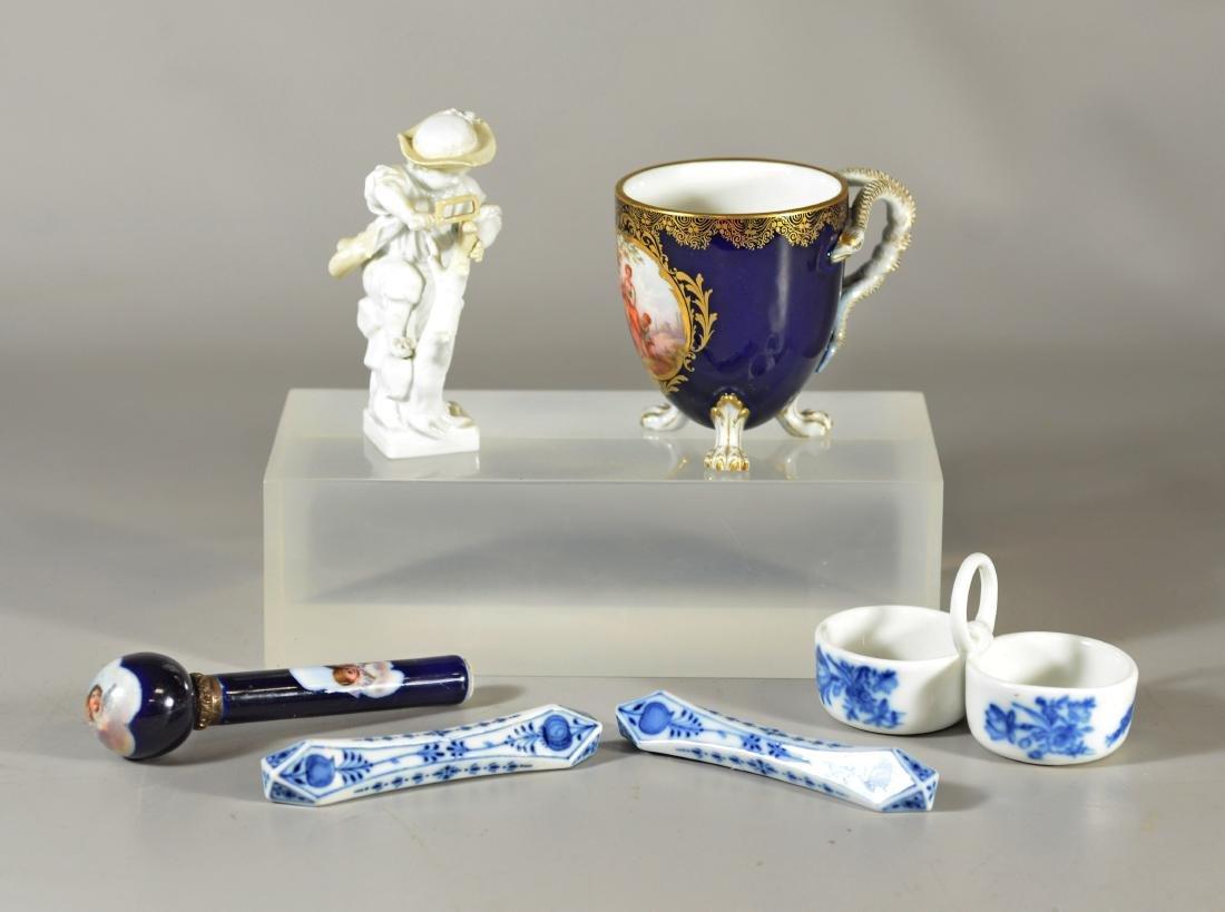 6 Miscellaneous Meissen porcelain items