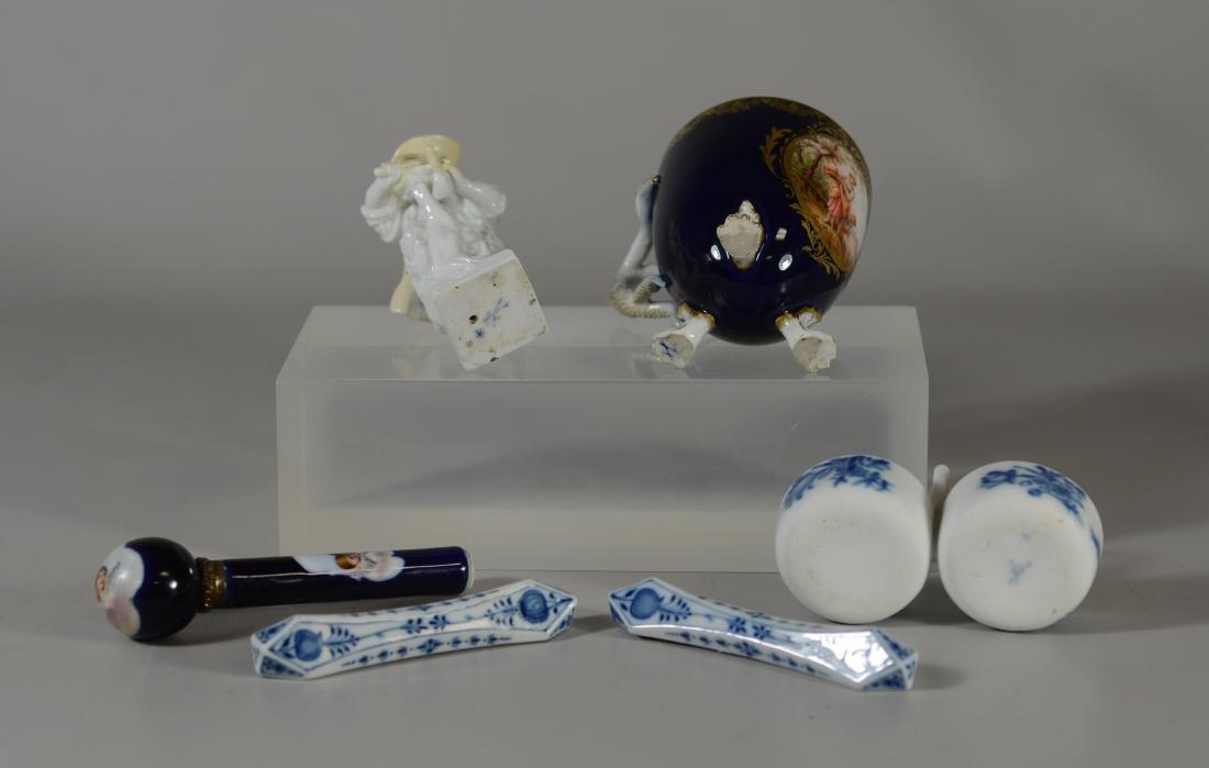 6 Miscellaneous Meissen porcelain items - 5