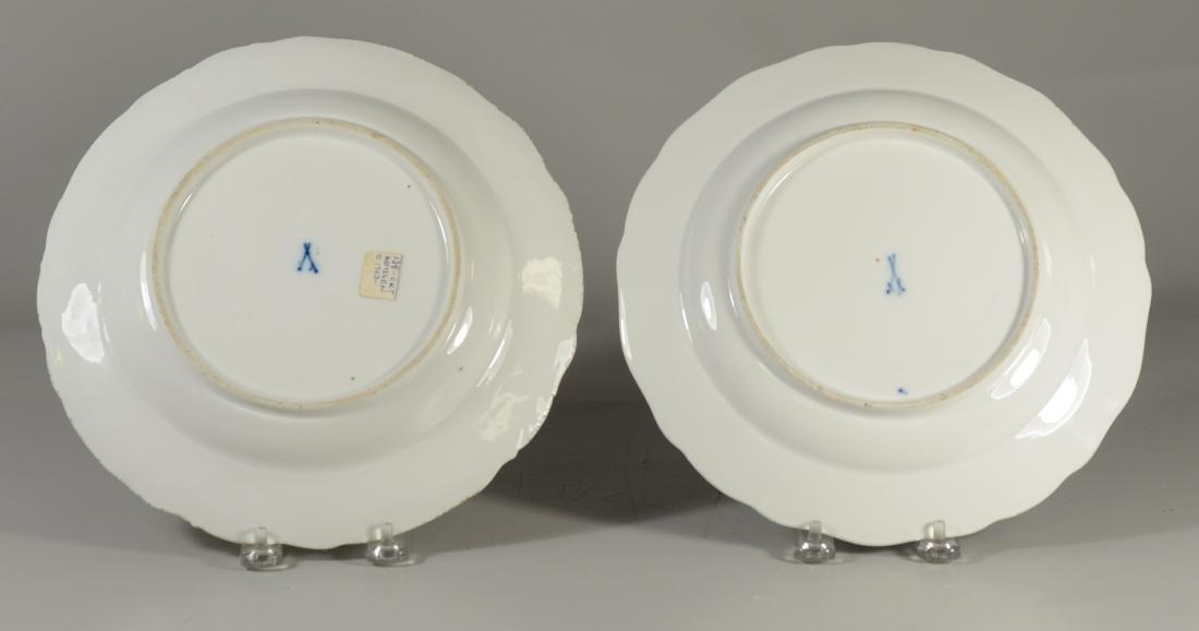 (2) Meissen porcelain plates, fruit decorated - 2