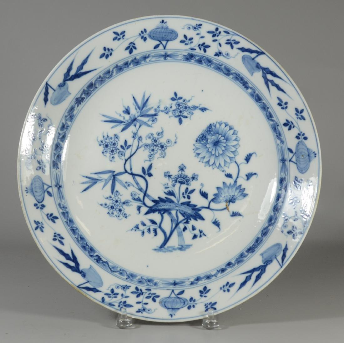 (2) Meissen porcelain plates, fruit decorated - 3