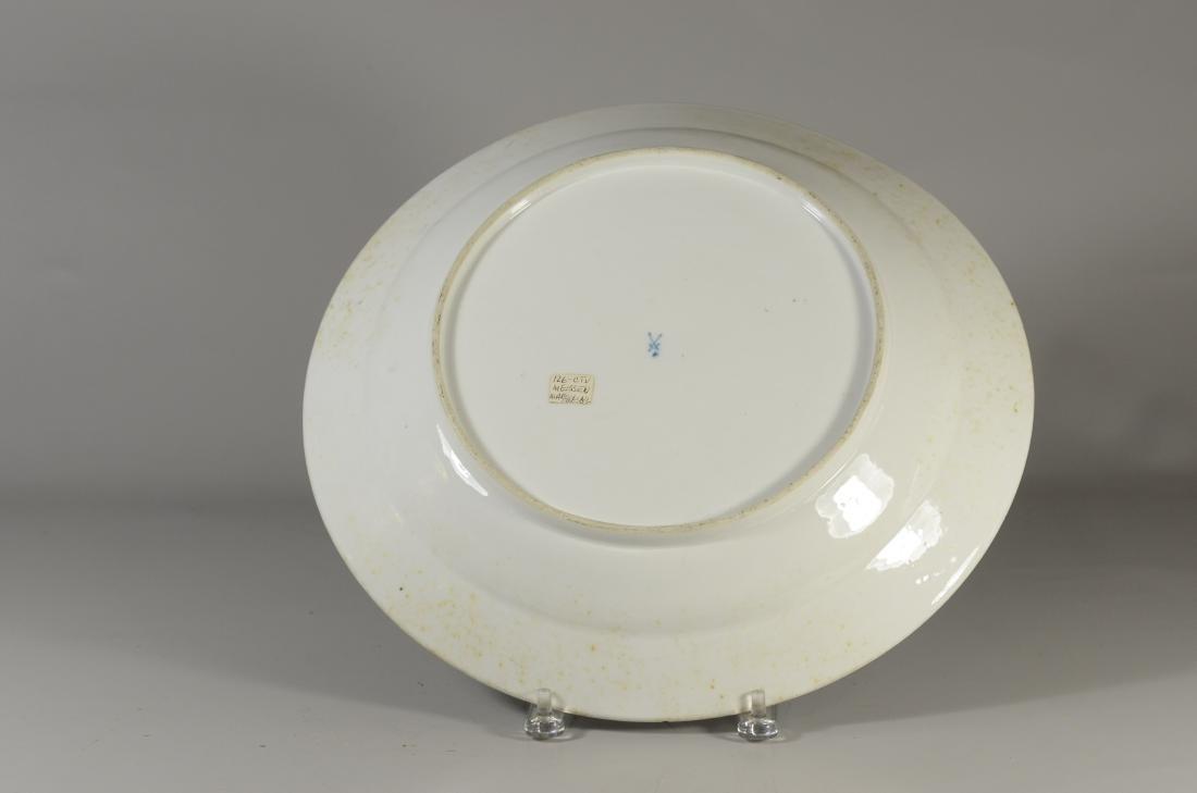 (2) Meissen porcelain plates, fruit decorated - 4