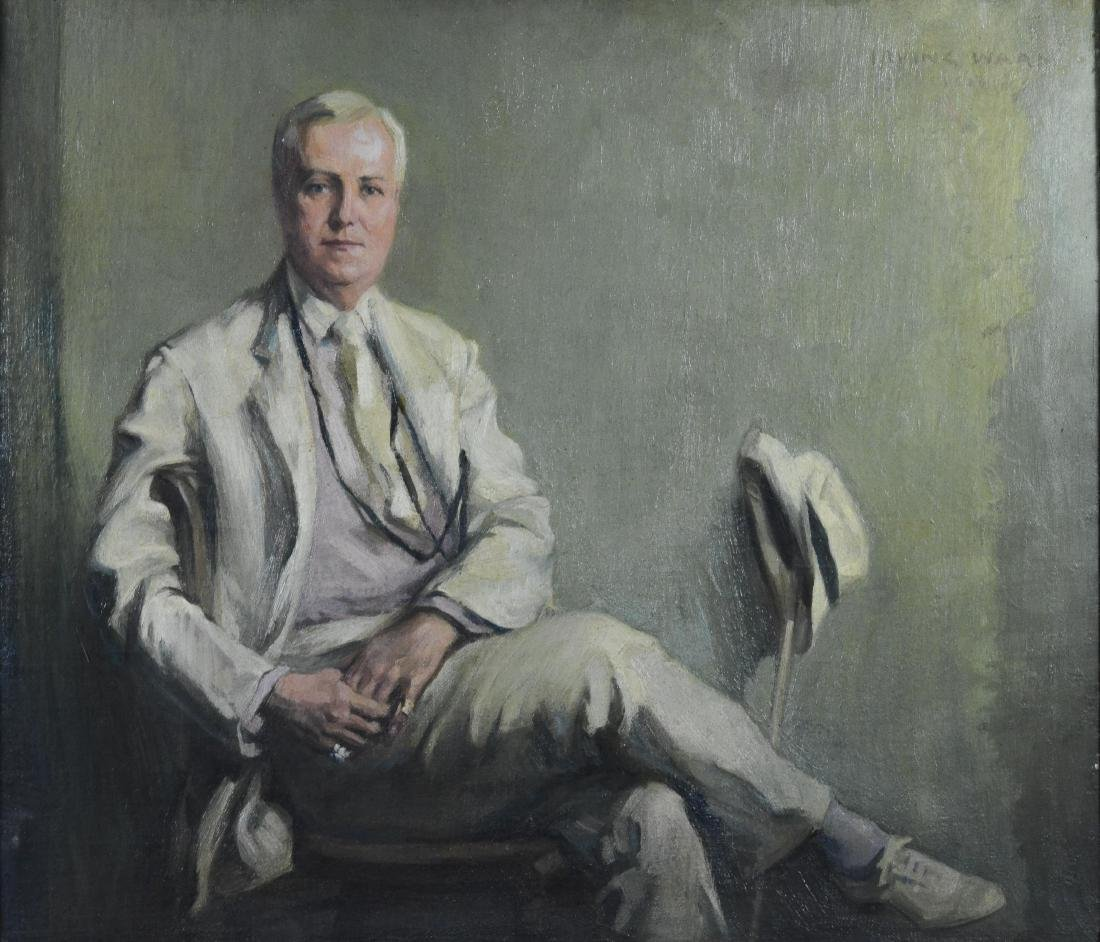 Irving Ward, portrait painting of a doctor