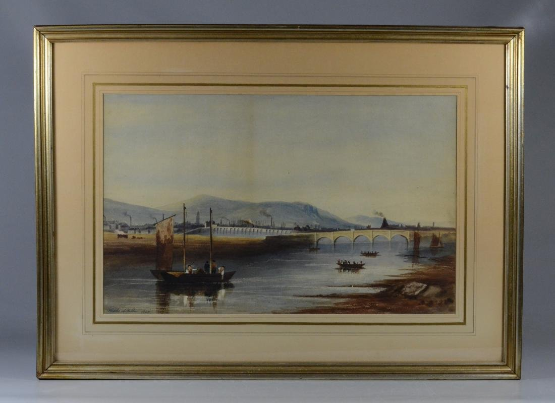 Pair of European Landscapes, Nicols of Dublin 1825 - 9