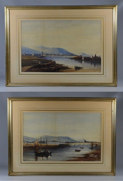 Pair of European Landscapes, Nicols of Dublin 1825