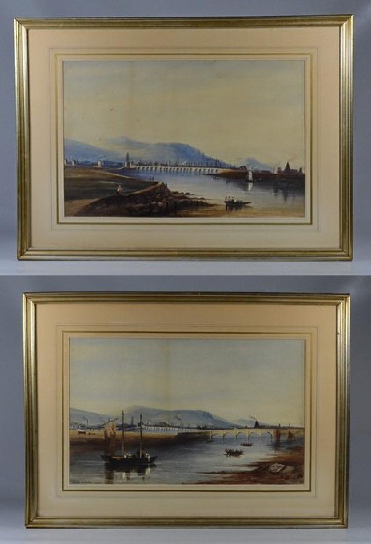 Pair of European Landscapes, Nicols of Dublin 1825 - 2