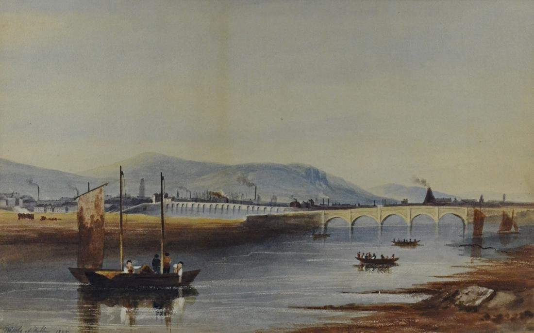 Pair of European Landscapes, Nicols of Dublin 1825 - 8