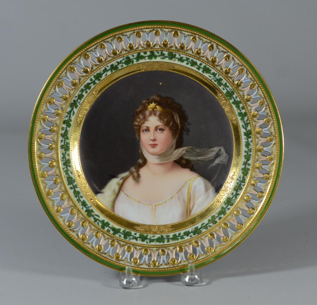 Meissen porcelain Queen Louise cabinet plate