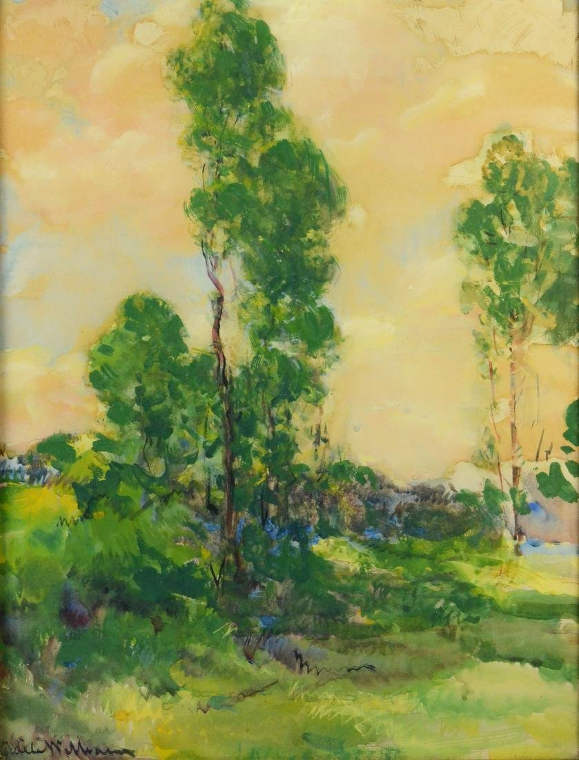 Adele Williams, tonalist landscape watercolor