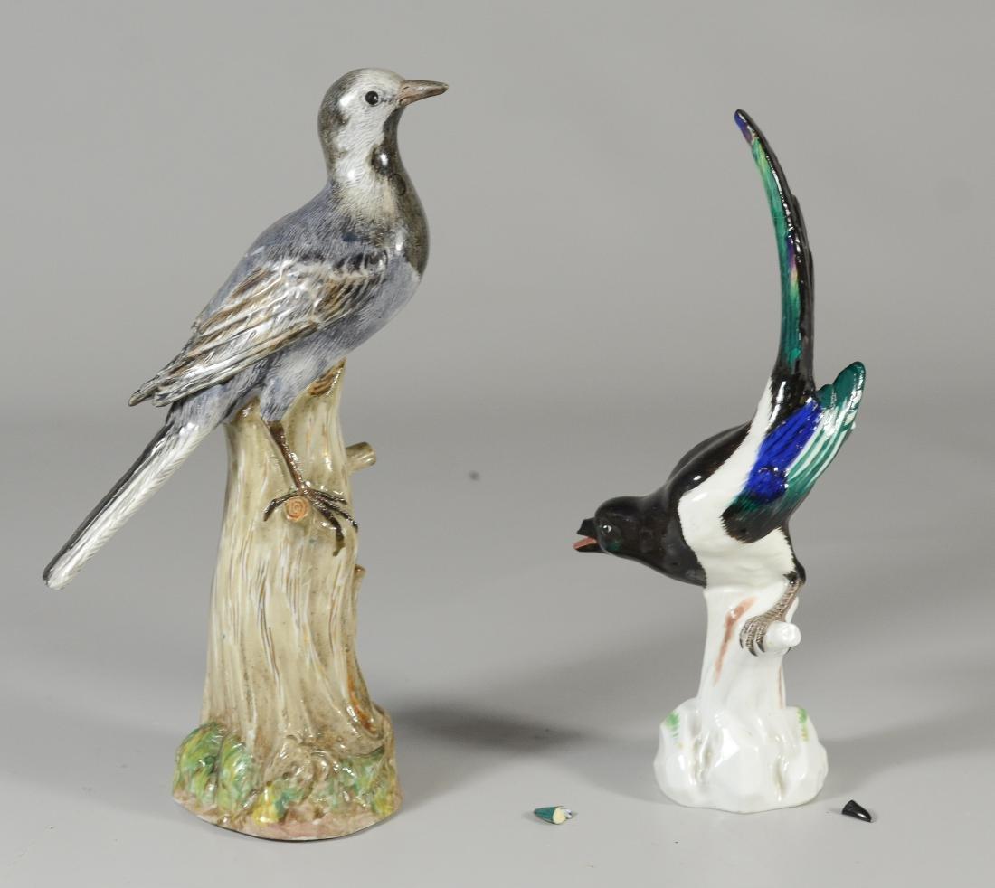 (2) Meissen bird figurines, dove & blackbird - 2