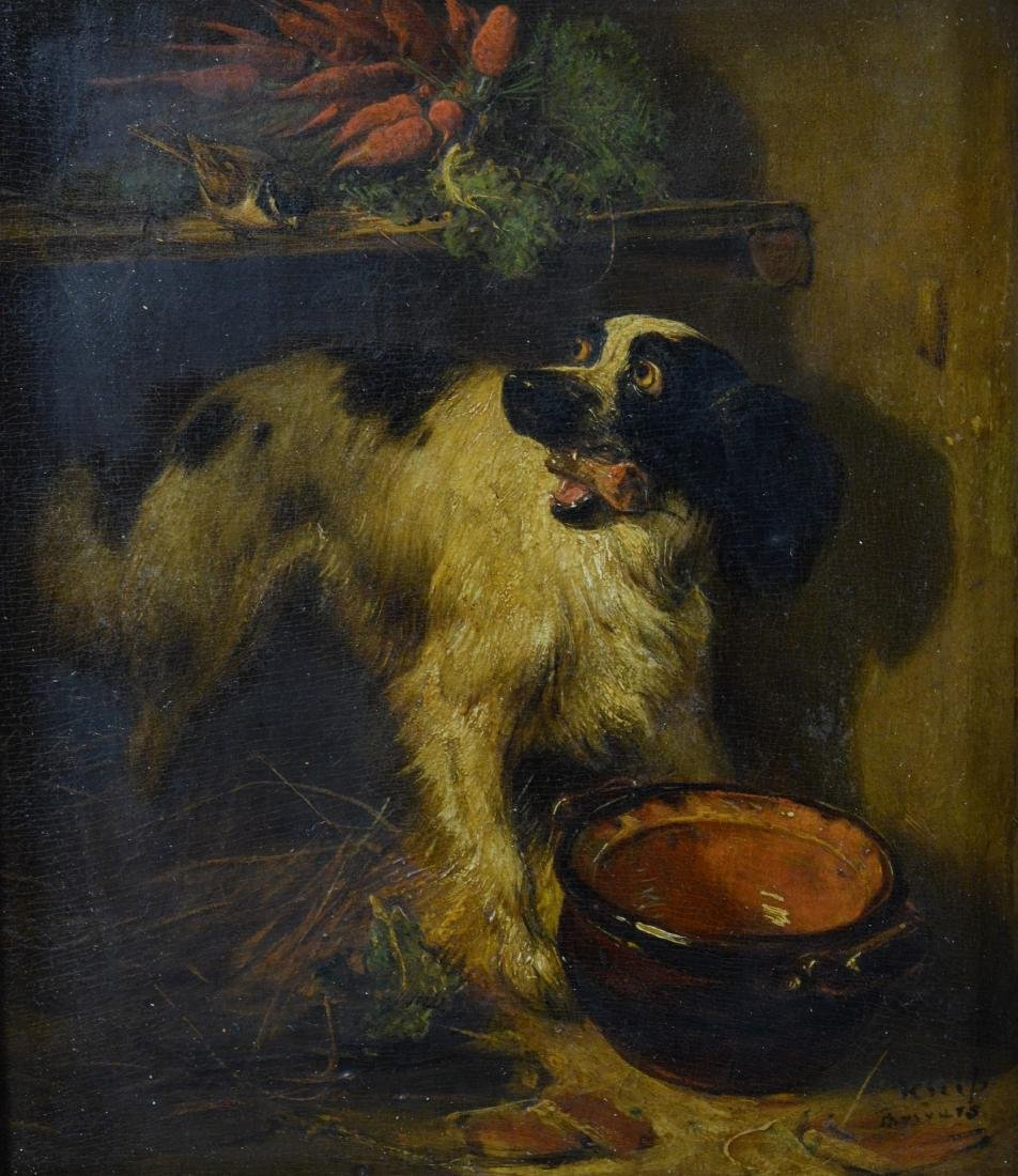 Henriette Ronner Knip, two paintings of dogs - 14