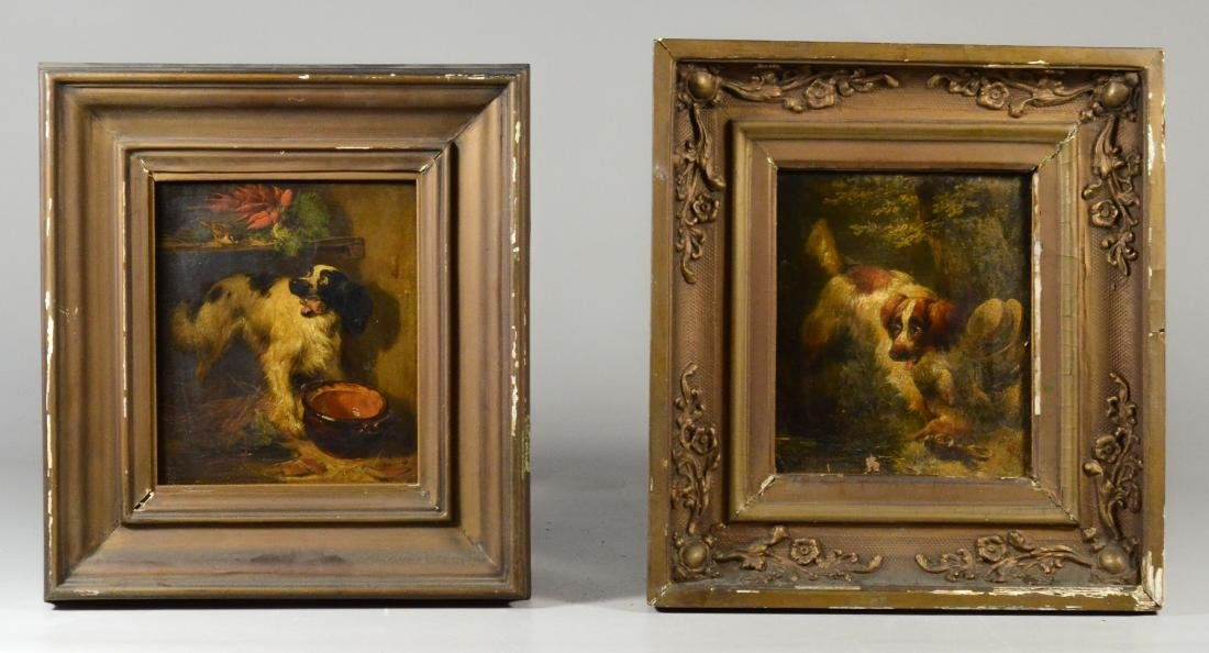 Henriette Ronner Knip, two paintings of dogs