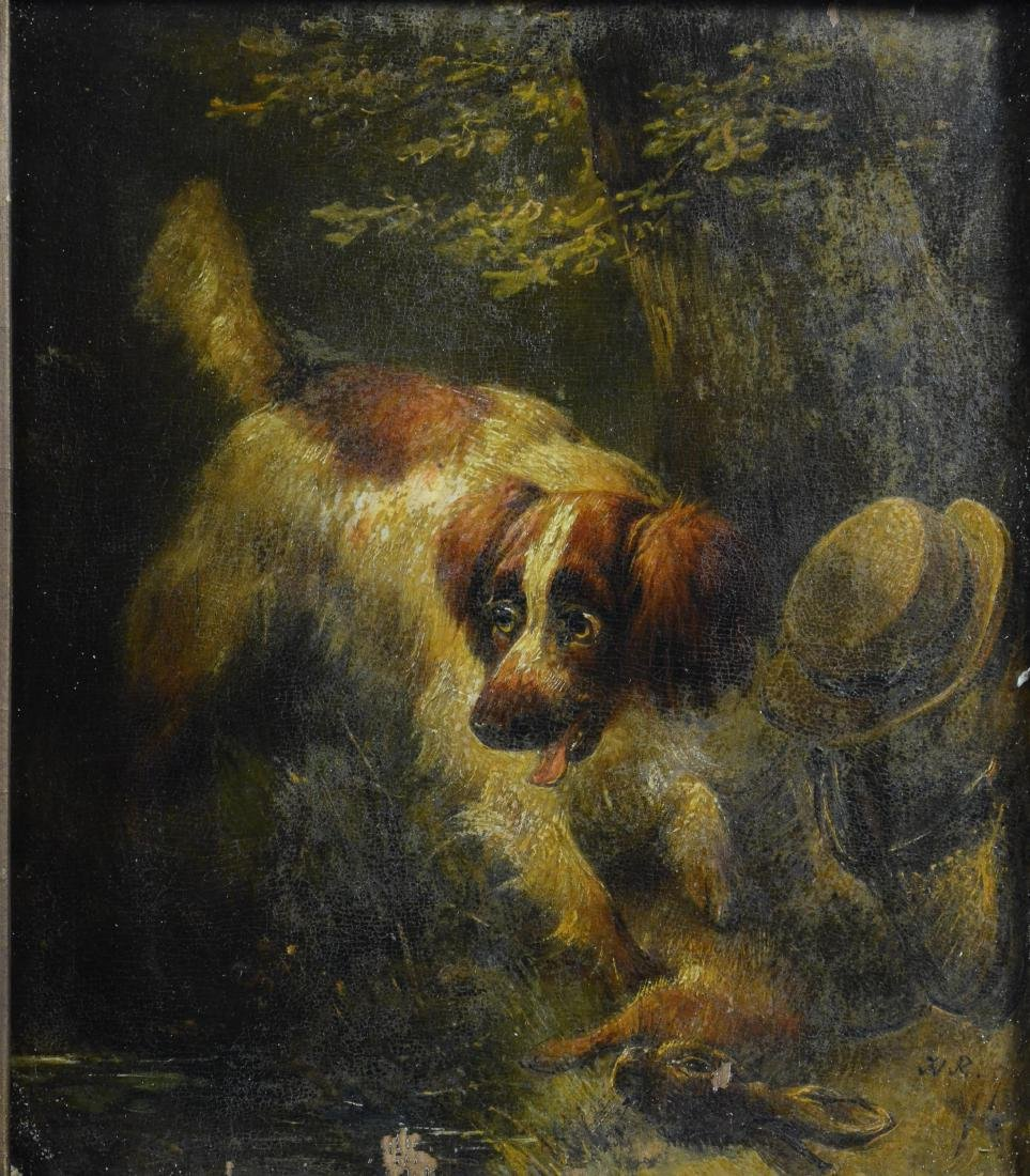 Henriette Ronner Knip, two paintings of dogs - 2