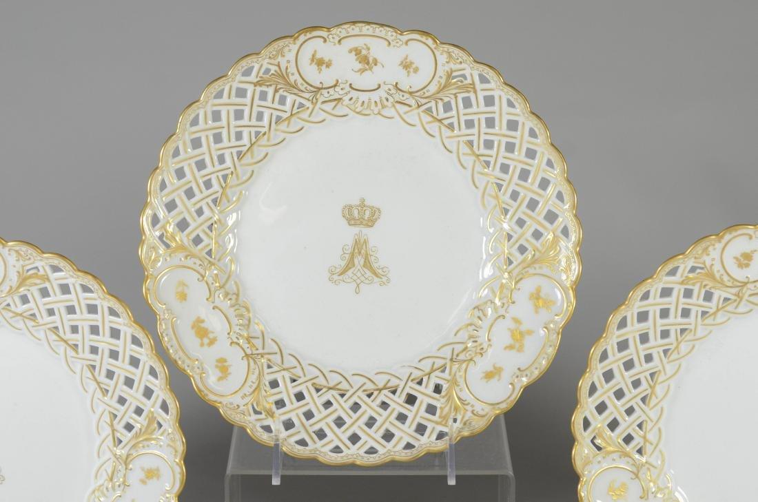 (5) Meissen porcelain gilt decorated plates - 2