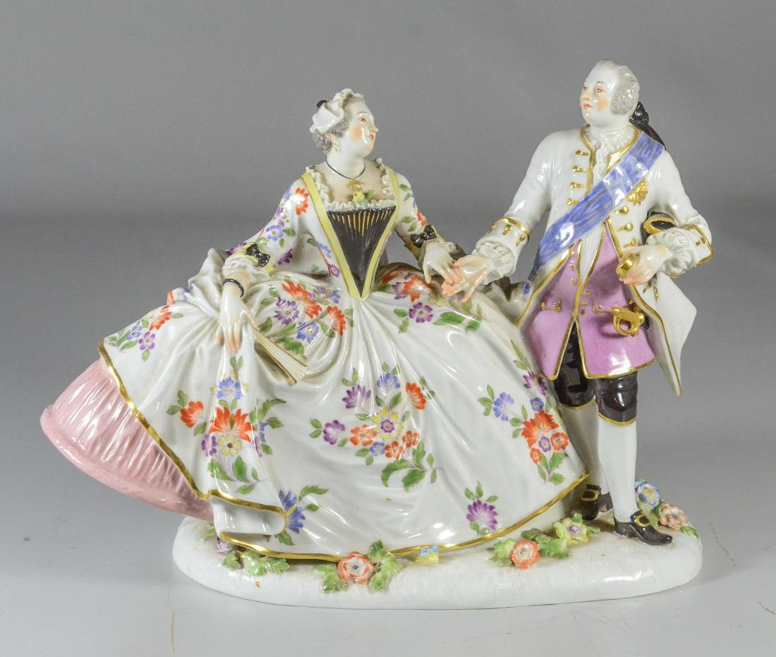 Meissen porcelain Augustus the Strong and Marie Josepha