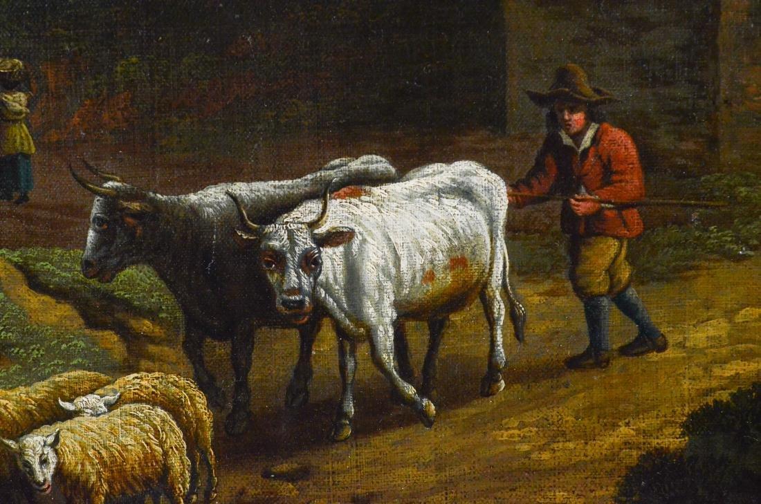 Antique Continental landscape painting - 2