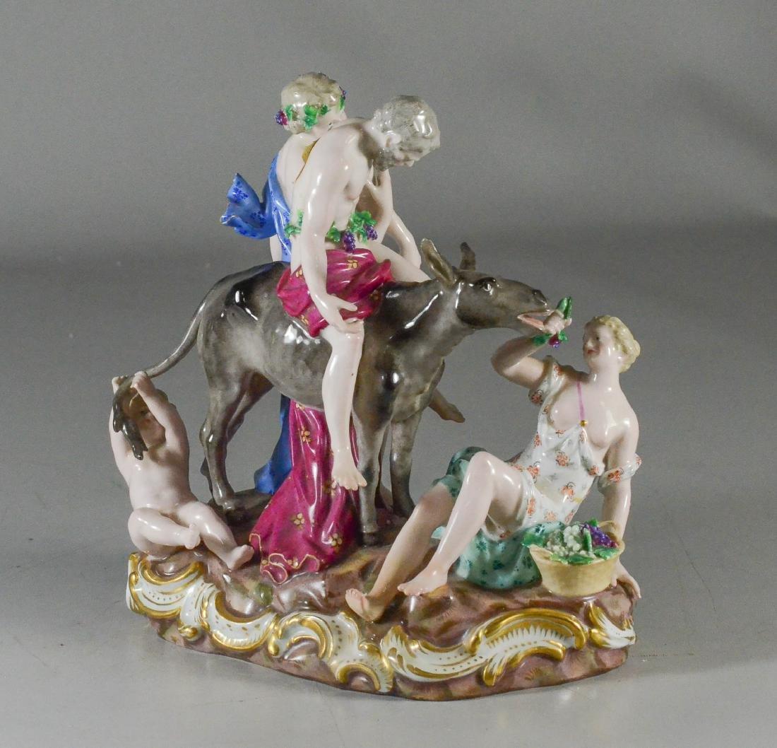 Meissen porcelain Bacchanalian group Drunken Silenus