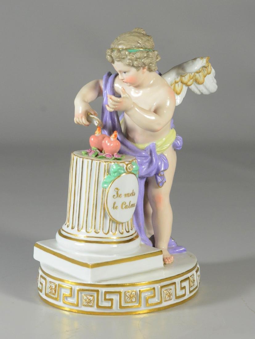 """Meissen porcelain figure of """"Je mets le calme"""""""