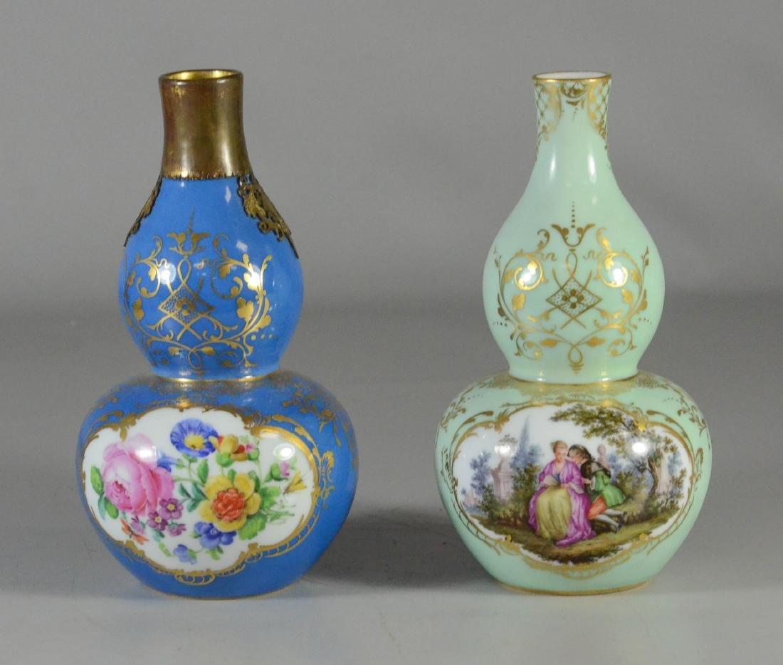 (2) Meissen porcelain double-gourd shaped scent bottles - 2