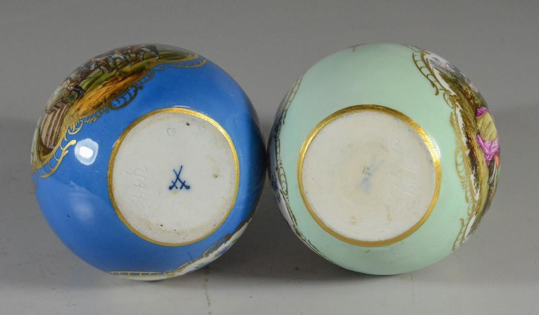 (2) Meissen porcelain double-gourd shaped scent bottles - 3