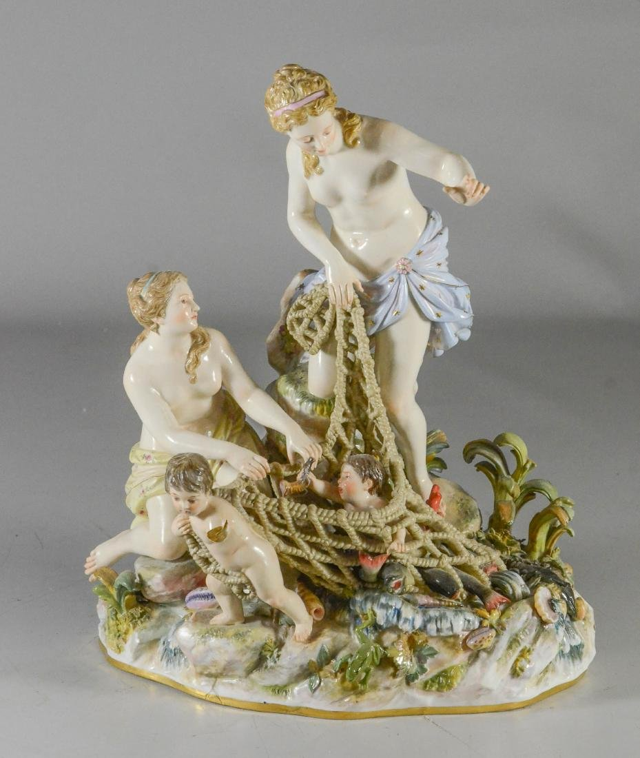 """Meissen porcelain group of the """"Capture of the Tritons"""""""