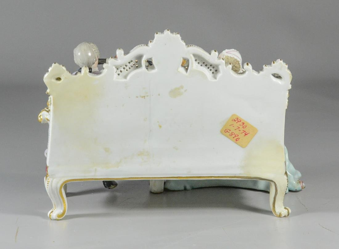 Meissen porcelain sofa group of a duet, late 19th C - 3
