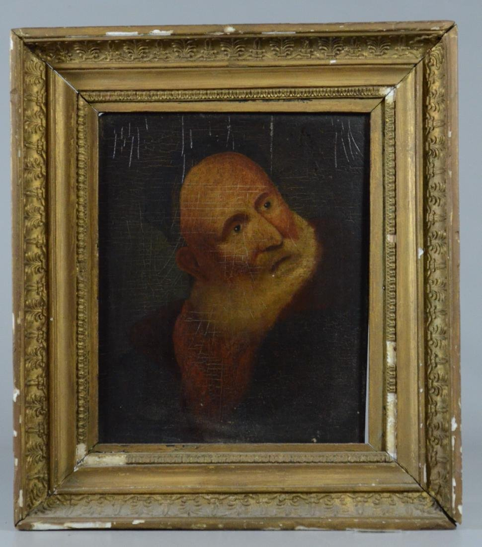 Early portrait painting of a bearded man - 2