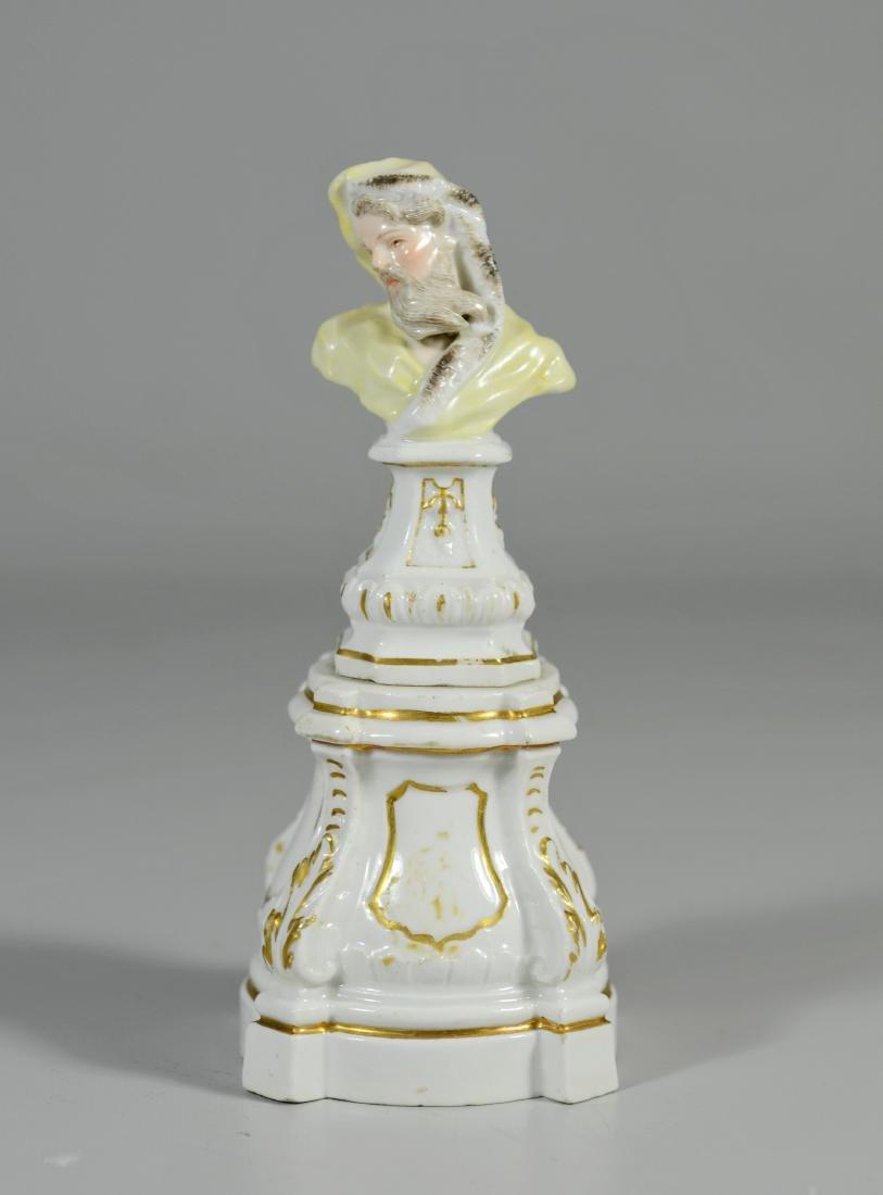 Meissen porcelain allegorical bust of a Bearded Man