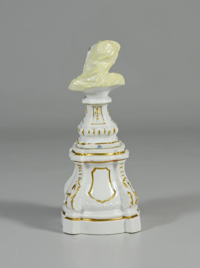 Meissen porcelain allegorical bust of a Bearded Man - 3