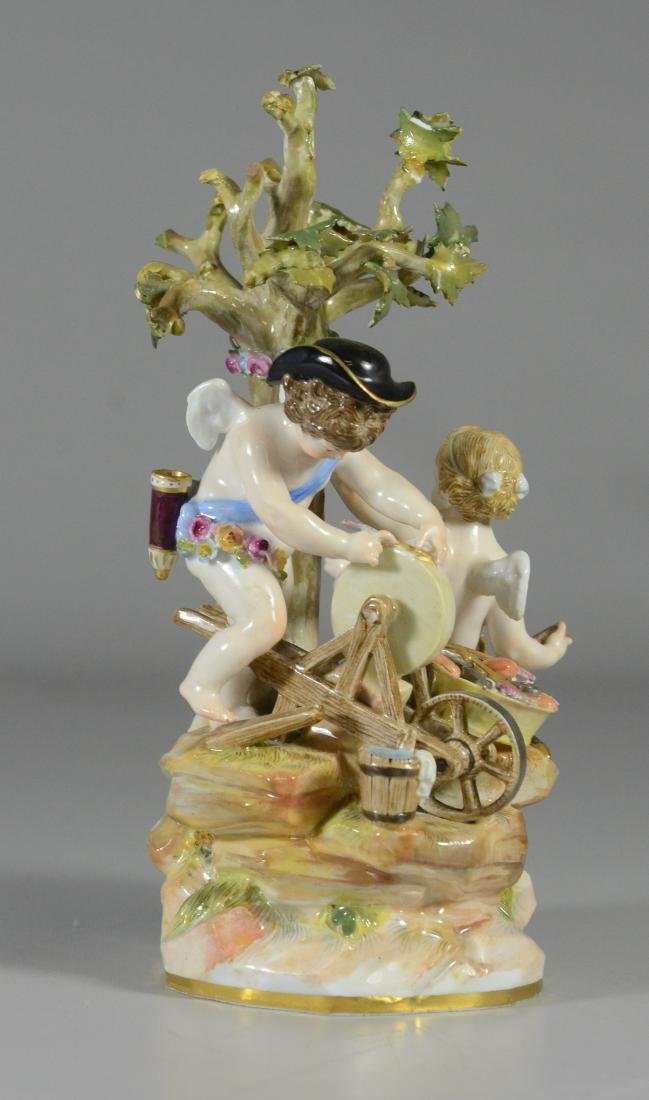 "Meissen porcelain group of  ""Cupid Sharpening Arrows"""