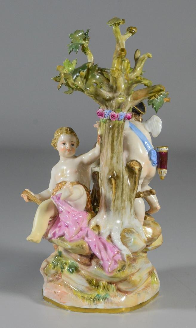 "Meissen porcelain group of  ""Cupid Sharpening Arrows"" - 3"
