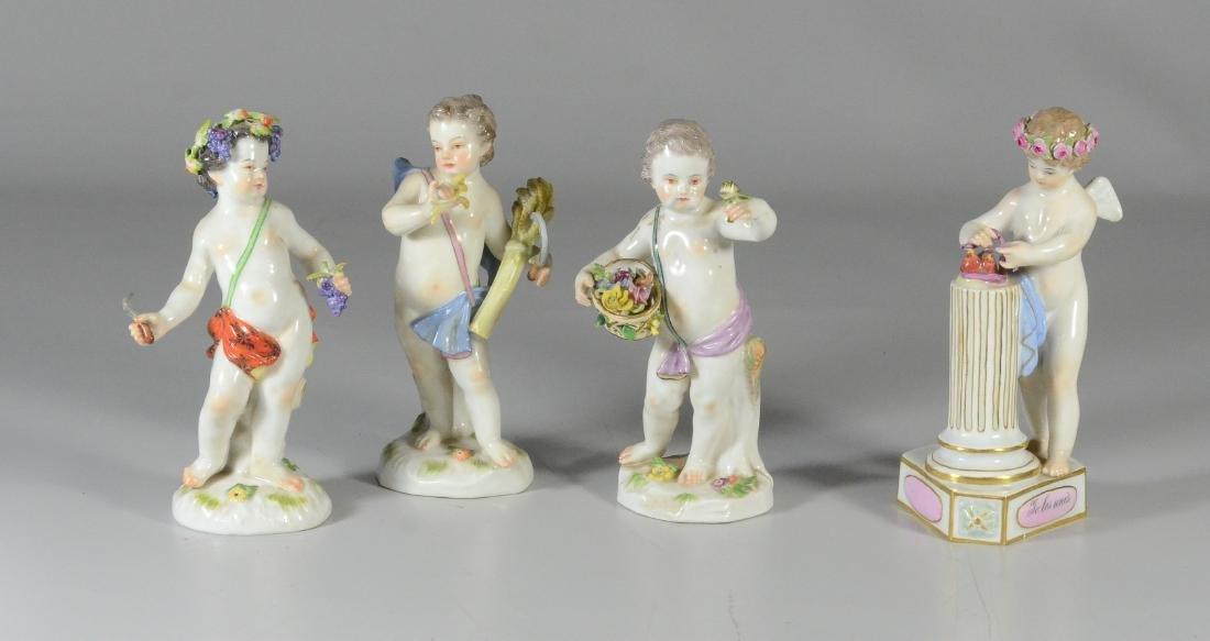 """4 Meissen allegorical figures of the 'Seasons"""""""