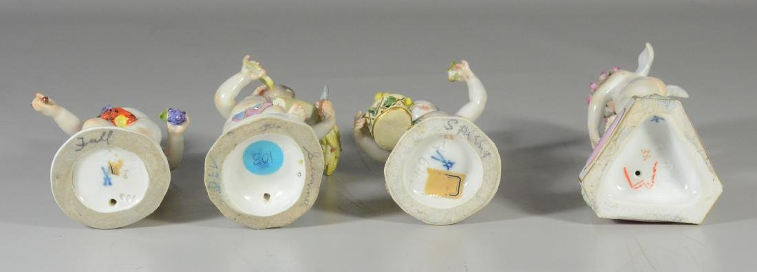 """4 Meissen allegorical figures of the 'Seasons"""" - 8"""