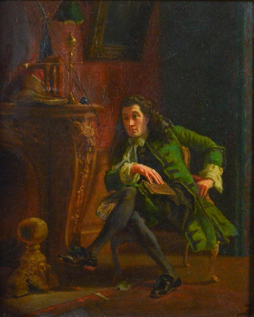 Frank Blackwell Mayer painting of a seated gentleman