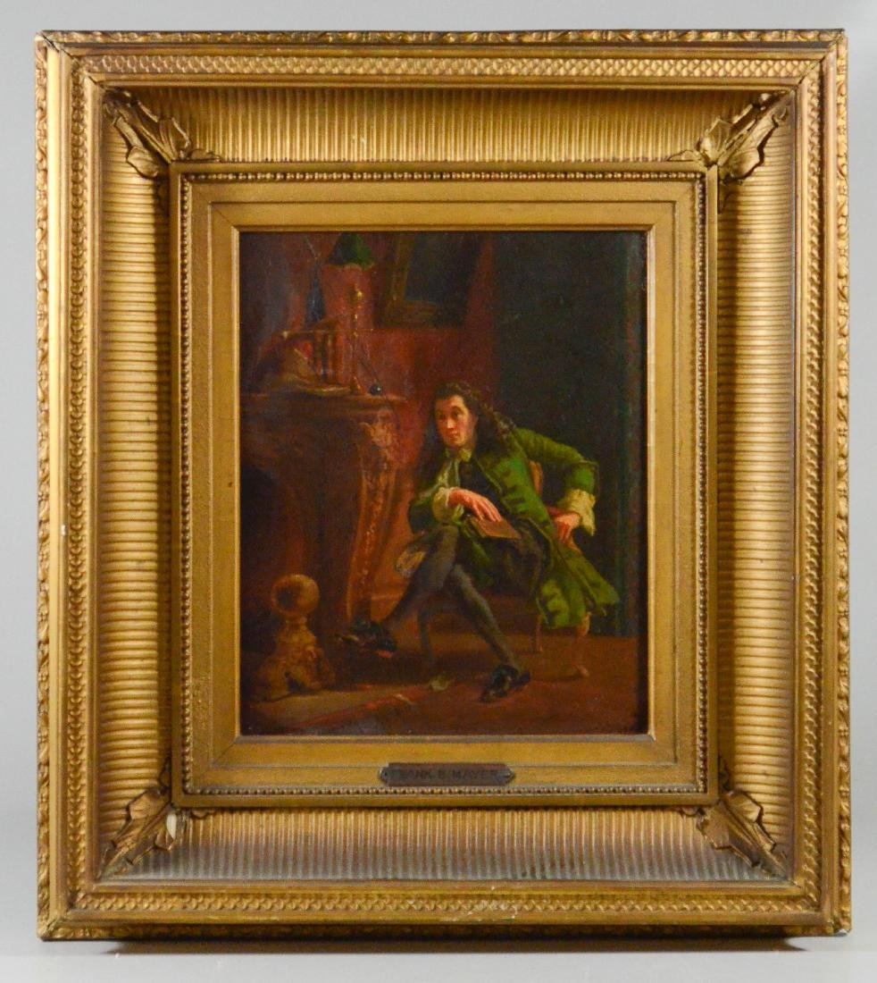 Frank Blackwell Mayer painting of a seated gentleman - 2
