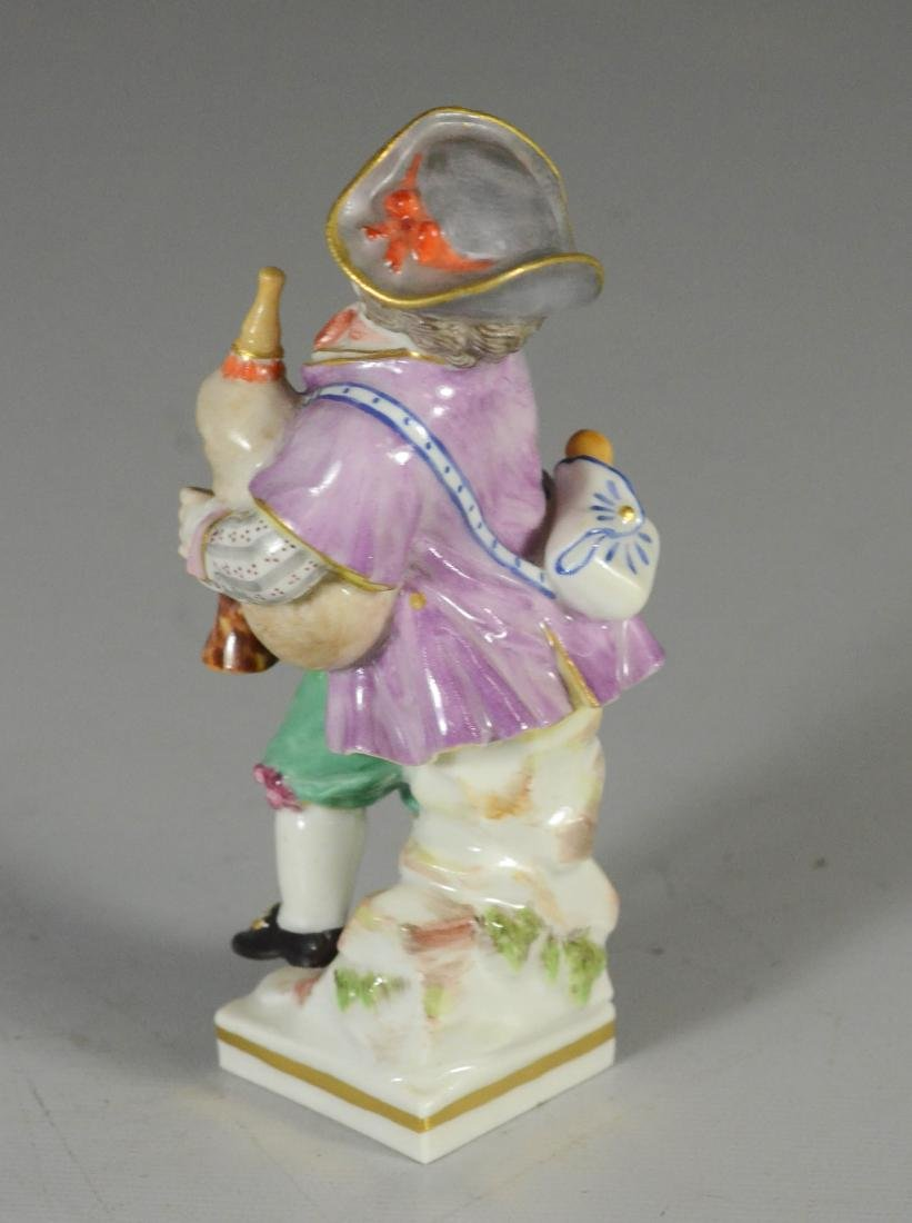 Meissen porcelain figure of a youth with bagpipe - 2