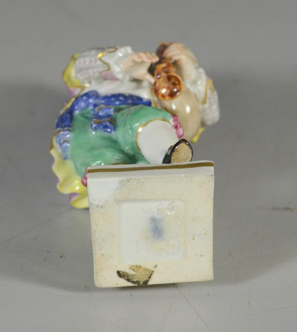 Meissen porcelain figure of a youth with bagpipe - 3