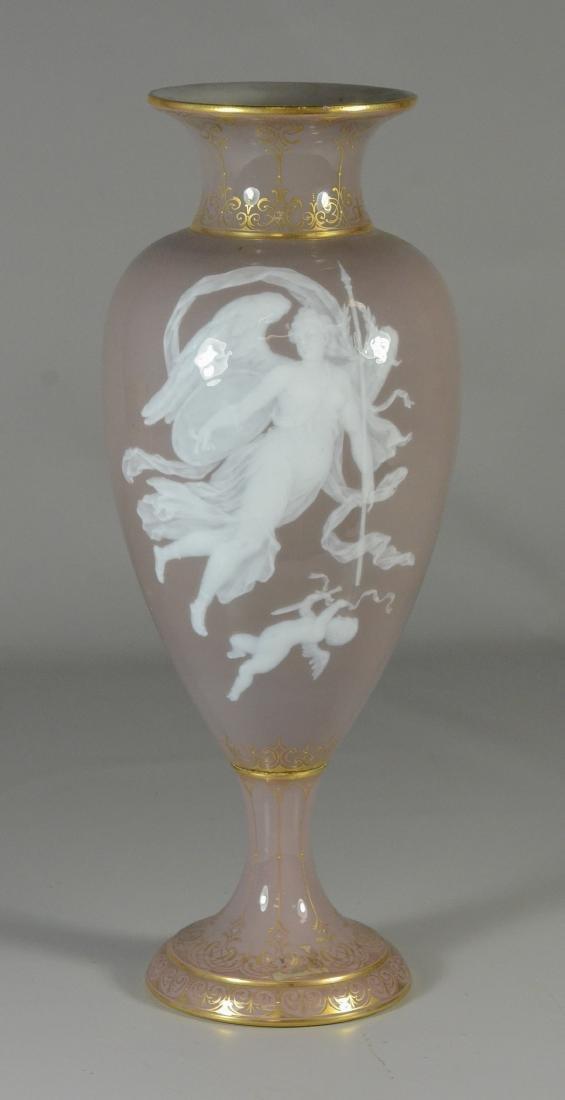 Meissen porcelain cafe-au-lait & 'pate-sur-pate vase