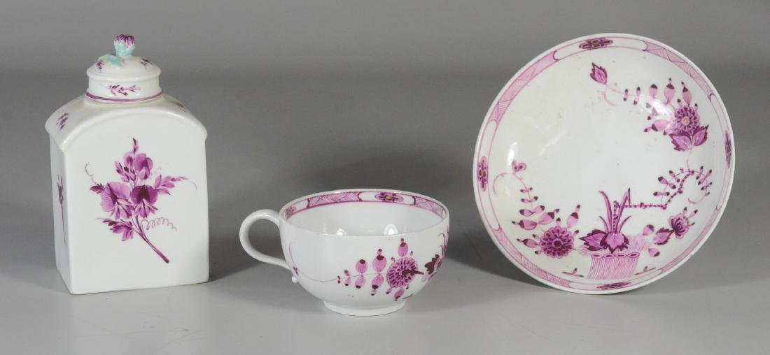 Meissen Marcolini porcelain tea caddy and cup & saucer