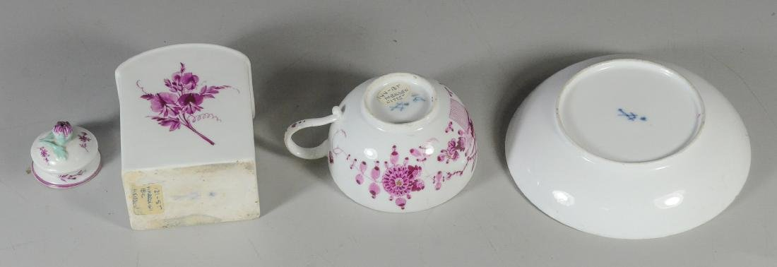 Meissen Marcolini porcelain tea caddy and cup & saucer - 3