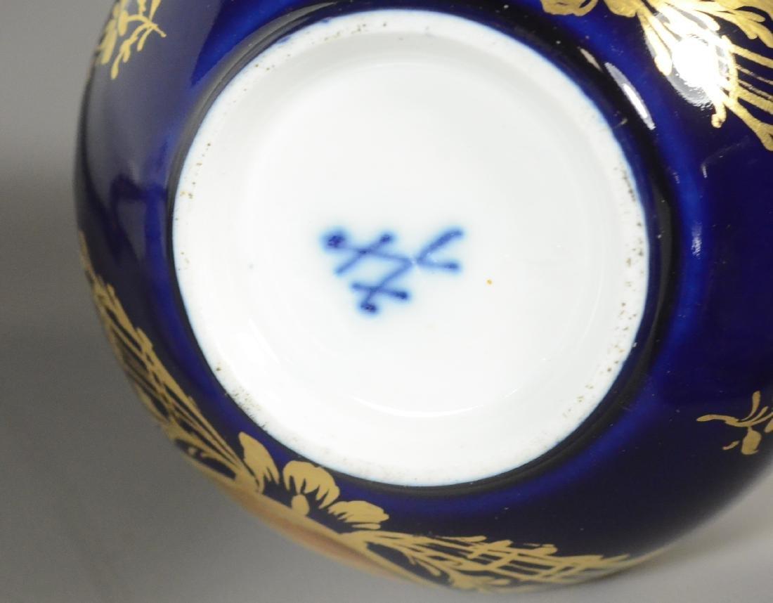 (8) Piece Meissen porcelain cobalt blue tete-a-tete - 5