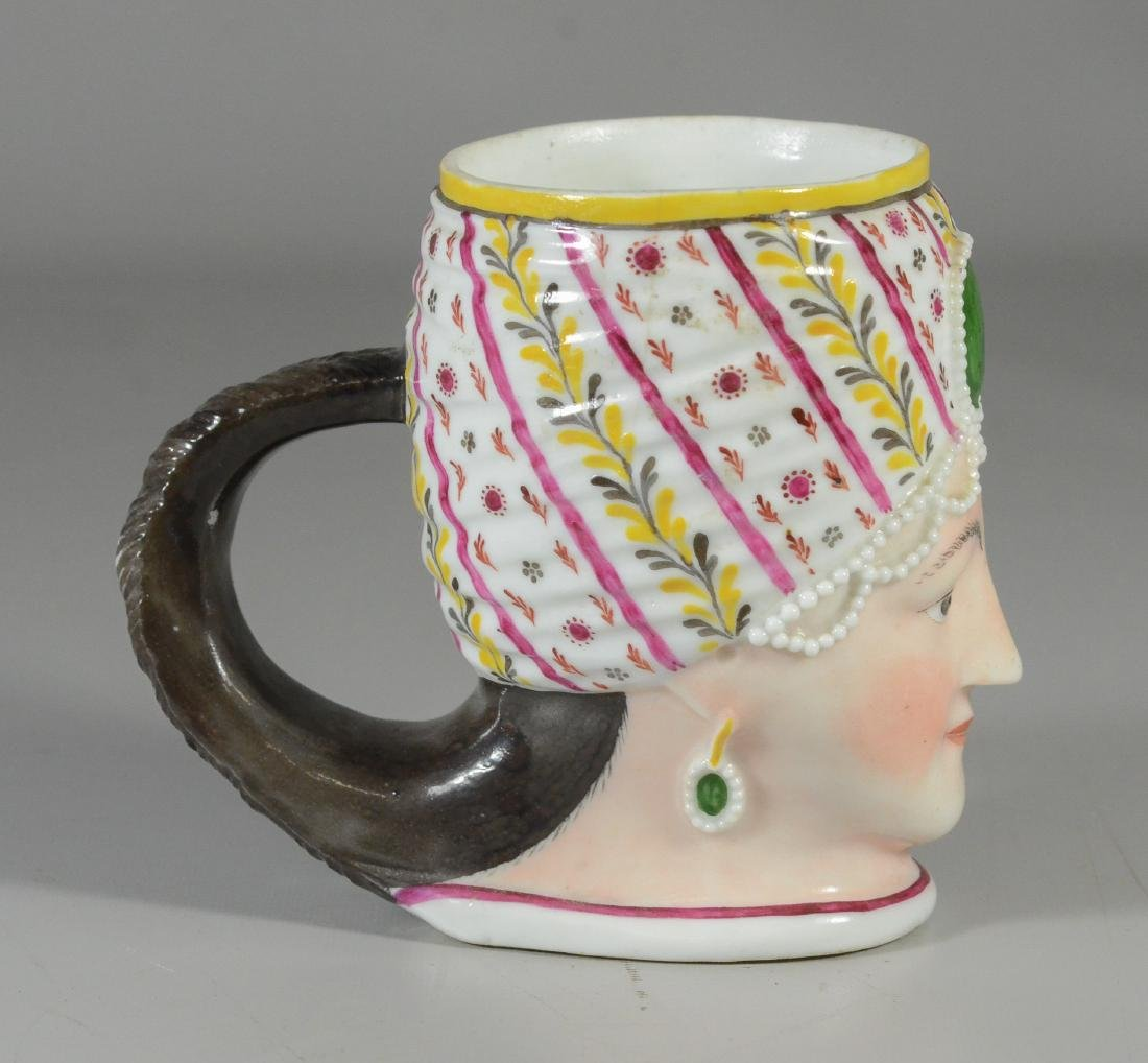 German porcelain covered cup, bust of a woman - 3