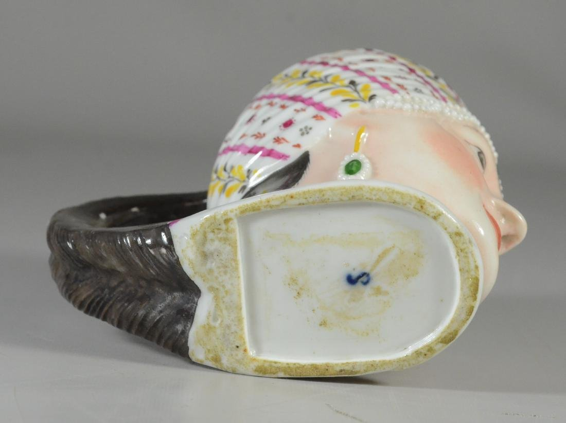 German porcelain covered cup, bust of a woman - 4