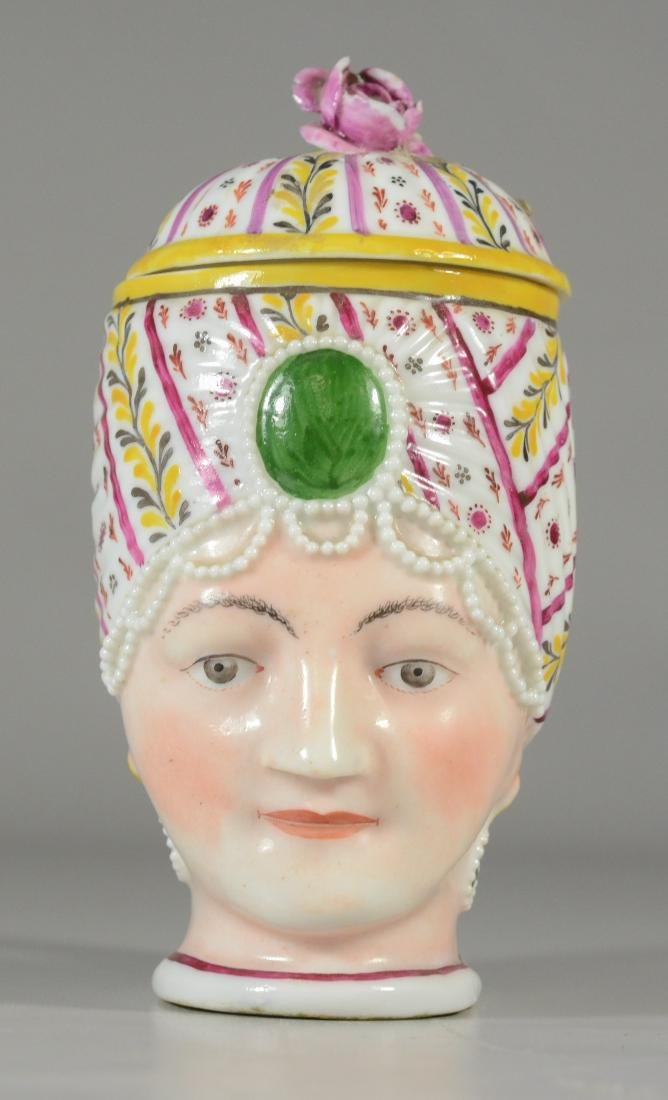 German porcelain covered cup, bust of a woman - 5