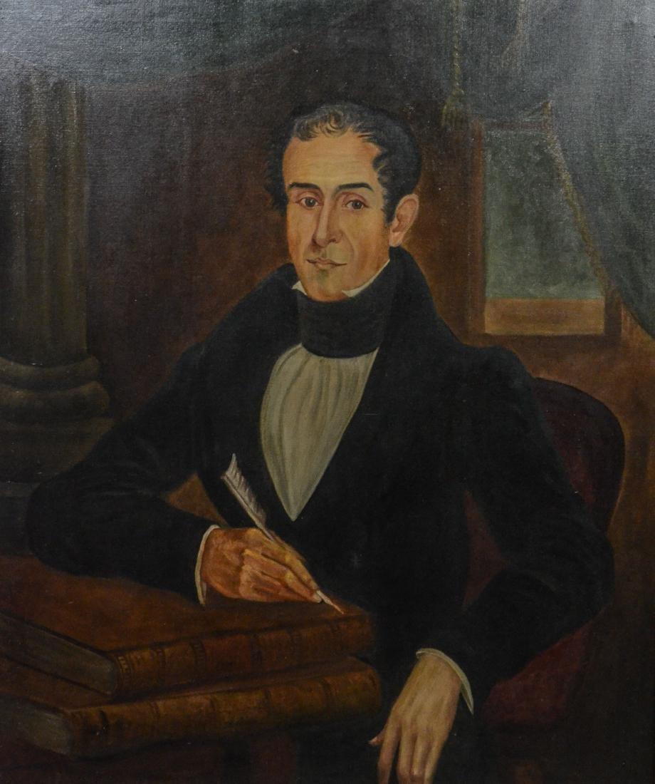 Antique portrait painting of Samuel Alexander Ford