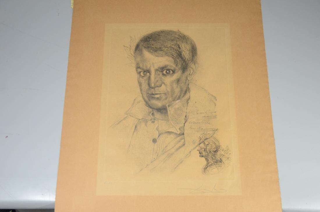 Salvador Dali, etching, self portrait as Napoleon - 11