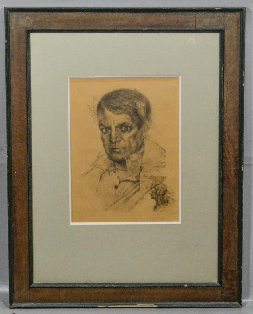 Salvador Dali, etching, self portrait as Napoleon - 2
