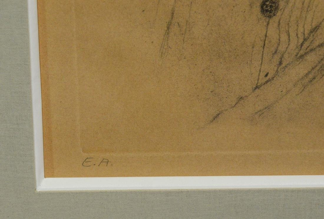 Salvador Dali, etching, self portrait as Napoleon - 4