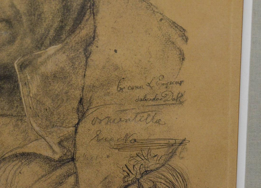 Salvador Dali, etching, self portrait as Napoleon - 5